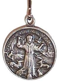 st francis charm back can be engraved