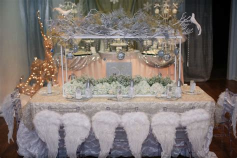 party themes adults winter white and silver winter wonderland party inspiration