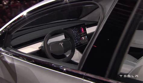 tesla model 3 interior tesla model 3 officially revealed performancedrive
