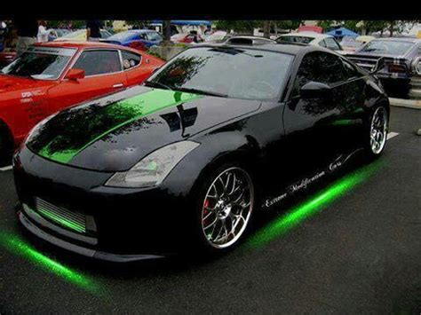 neon nissan nissan nissan 350z with neon green underglow my