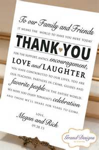 thank you card for wedding wedding the guest and receptions on