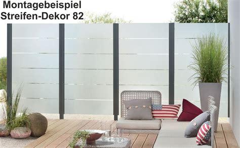 sichtschutz glas terrasse 2505 esg satinato wei 223 modell 82 sichtschutz windschutz 8mm
