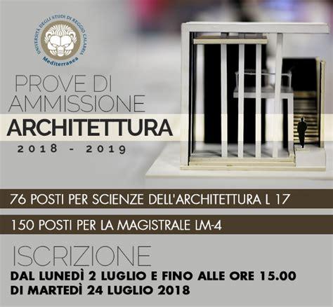 Architettura Reggio Calabria by Reggio Calabria Dal 2 Luglio Aperte Le Iscrizioni Per I