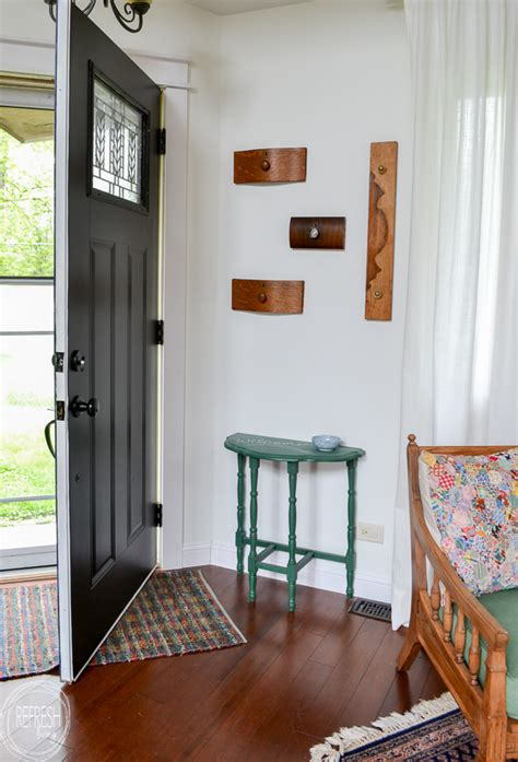 diy coat rack   small entryway
