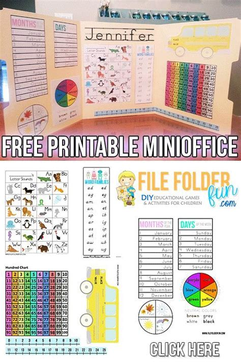 printable games for the classroom free kindergarten learning folder printables use as