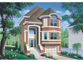 House Plans For Narrow Lots With Front Garage by Comstock Narrow Lot Townhouse Plan 032d 0619 House Plans