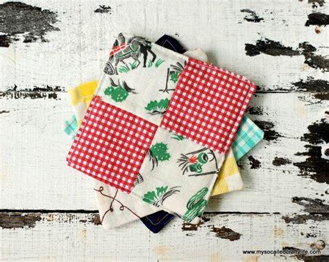 Diy Patchwork - diy vintage scrappy patchwork fabric coasters my so
