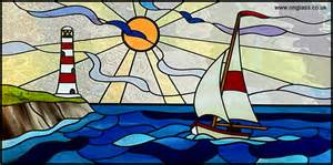 Sailboat Windows Designs 1000 Images About Stained Glass Seascapes On Stained Glass Lighthouses And