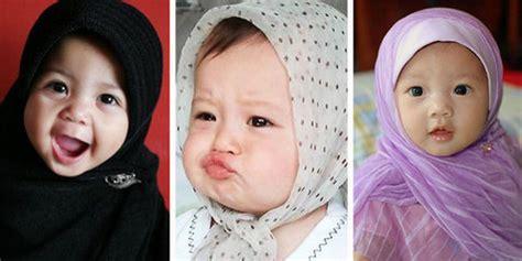 film untuk bayi 6 bulan lucunya bayi bayi ini memakai jilbab menggemaskan plus