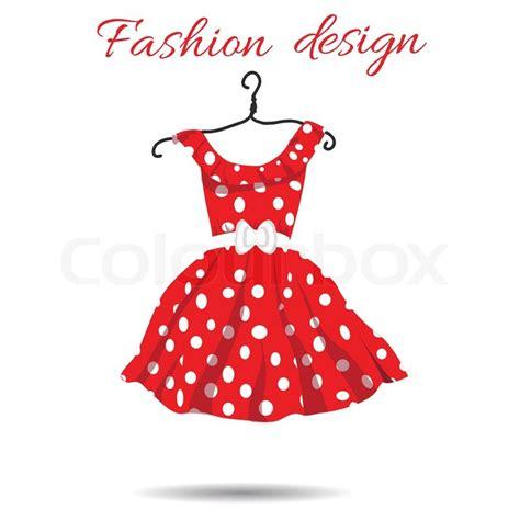 dress design vector vector women dress polka dot illustration eps stock