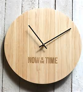 Wood Clock Now Is The Time Wood Clock Home Decor Amp Lighting