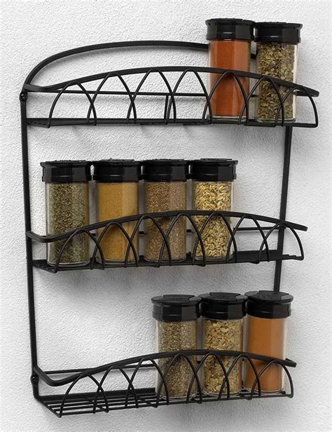 Wall Spice Rack With Spices Wall Mounted Spice Rack In Spice Racks