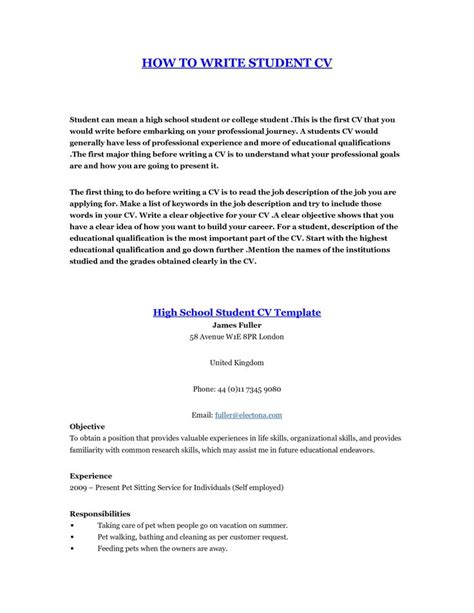 how to write a resume for students how to make a resume student resume ideas