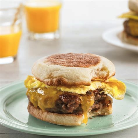 Cheesy Egg Sandwiches with Homemade Sausage   Williams