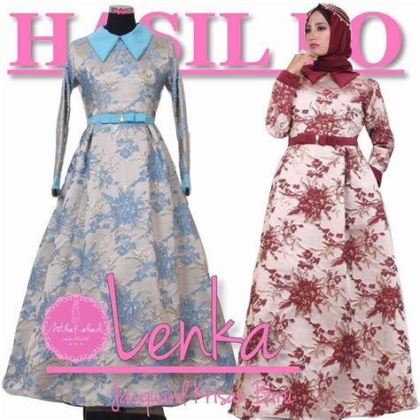 Gamis Pesta Nitha Rahadi Gamis Pesta Modern Lenka Dress Made By Order Sa Ma Ra