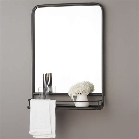 bathroom mirror shelves metal mirror with shelf small metal mirror pharmacy