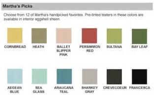 martha stewart living paint color chart