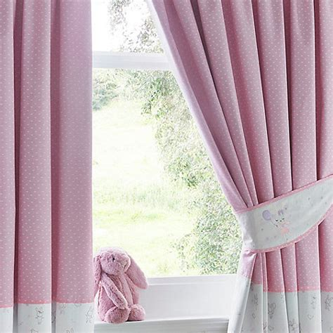 bunny curtains bluezoo light pink bunny print curtains debenhams