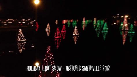 smithville holiday light show holiday light show in historic smithville 2012 youtube
