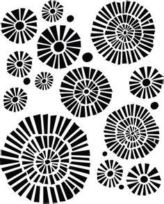 Kz08 Stencil Flower D Stensil Cetakancraft Scrapbooking 1 inch pattern use the printable outline for crafts creating stencils scrapbooking