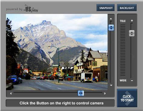 web live live user controlled webcams jasper banff