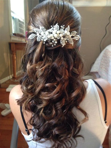 wedding hairstyles long brunette 225 best images about hair half up half down on pinterest
