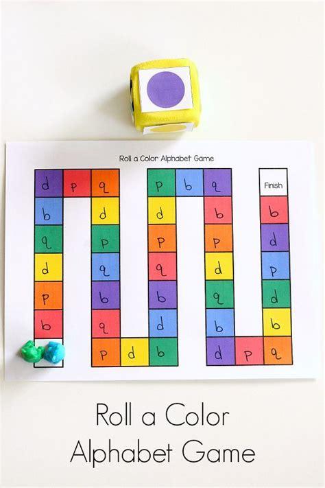 5 letter colors roll a color alphabet shape places and dice