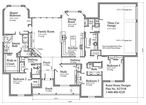 floor plan designs s2751r house plans 700 proven home designs by korel home designs