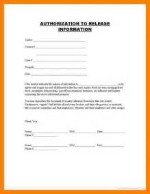 7 Generic Release Of Medical Information Form Joblettered
