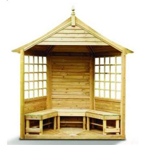 pergola anglaise en bois avec bancs optionnels