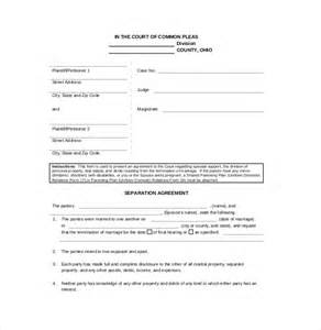 separation agreement template ontario separation agreement template 10 free word pdf
