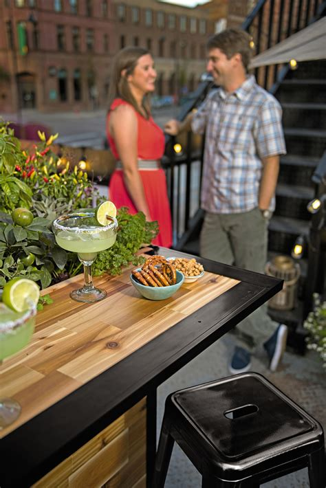 Planters Bar by Plant A Bar Wooden Outdoor Bar And Planter The Green