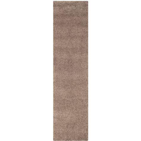 safavieh california rug safavieh california shag taupe 2 ft x 7 ft runner rug