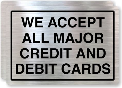 we do not accept credit debit cards sign template credit card signs credit and debit cards accepted