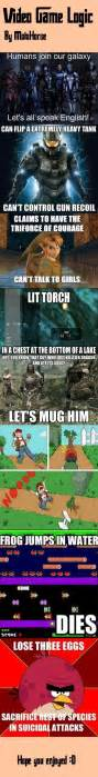 Game Logic Meme - funny memes about video games memes