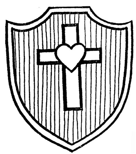 Shield Of Faith Coloring Page shields of faith shield of faith coloring page
