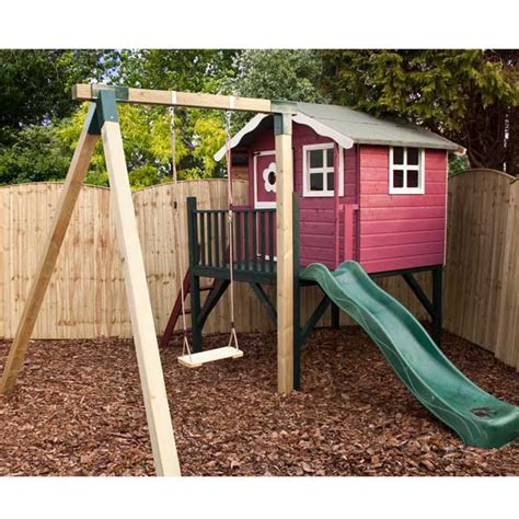 wooden swing sets with playhouse wooden playhouse kids wood wendy den playhouse child slide