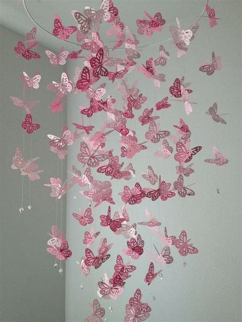 How To Make A Paper Butterfly Chandelier - 17 best ideas about butterfly mobile on