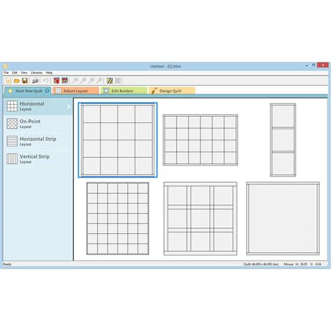 quilt layout software free eq mini quilt design software by electric quilt