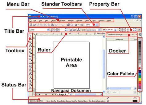 corel draw x5 menu bar pengenalan coreldraw bakulatz