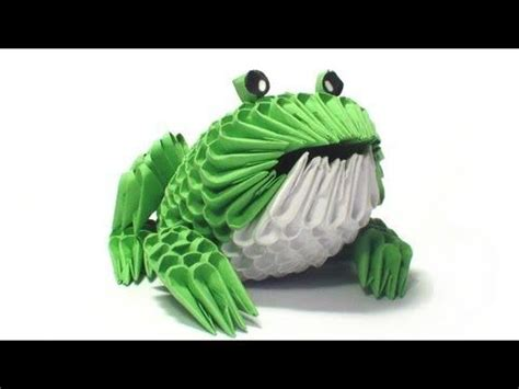 3d origami mini peacock tutorial 3d origami frog tutorial youtube paper and fabric