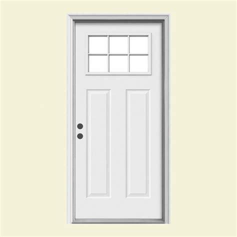 Lite Entry Door by Door Premium Craftsman 6 Lite Primed Steel Entry Door
