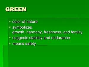 what does the color green represent meaning of color 1