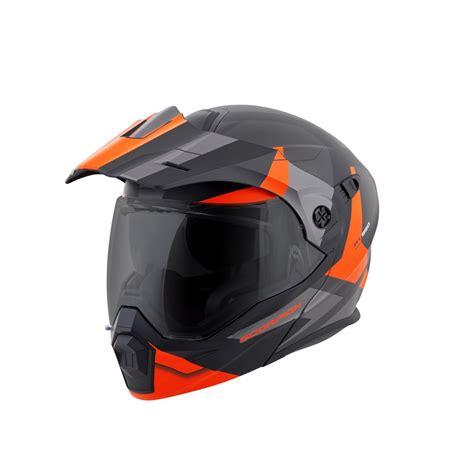 Ktm Motorrad Helm by Scorpion Exo At950 Orange Motorcycle Helmet Modular