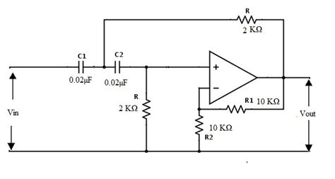 high pass filter second order active high pass filter circuit design and applications
