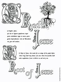O Antiphons Coloring Pages by O Advent Dec 17 23 Great O Antiphons