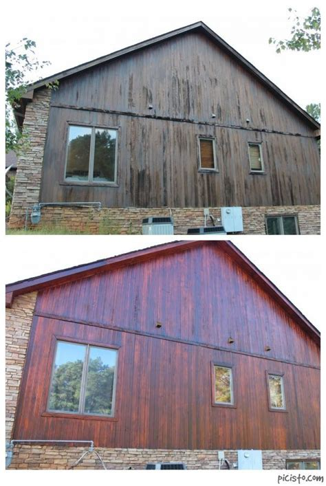 log siding for houses combined photo before and after of cedar restoration