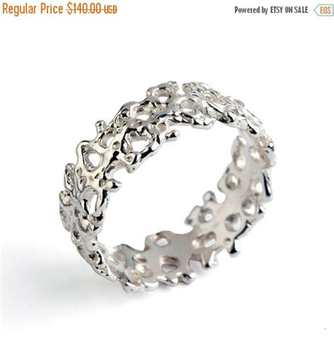 Wedding Bands Sale by 20 Sale Coral Wedding Band Sterling Silver Wedding