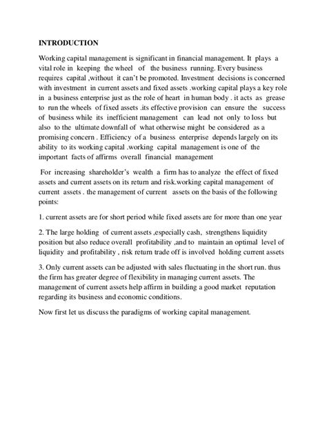 Rotman Mba Essay Questions by Cheap Write My Essay Working Capital Strategies For