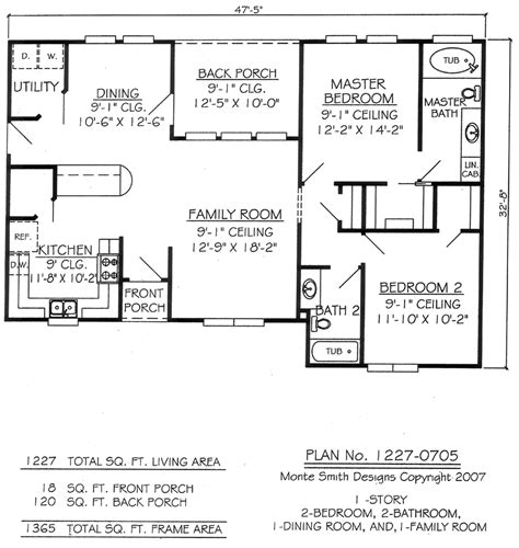 two bedroom two bathroom house plans studio design